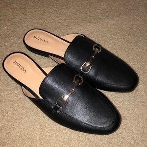 Merona Black Mules NEW size 11